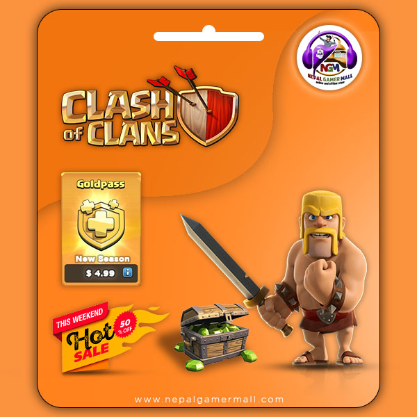 Clash of Clans (COC) Gold Pass In Nepal