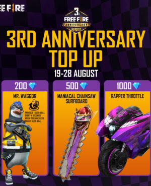 3rd Anniversary top up event